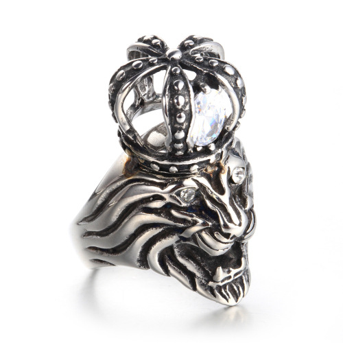 lion diamond ring