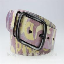 lady new fashion big wide printed belt