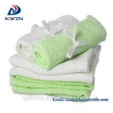 2018 hot in USA 100% organic bamboo 25*25cm baby towel set