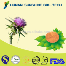 Polvo anti de la semilla del cardo de leche de Alibaba China Silybum Marianum PE para la medicina del dolor del hígado