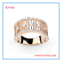 Luxury diamond engagement ring wide gold ring for men