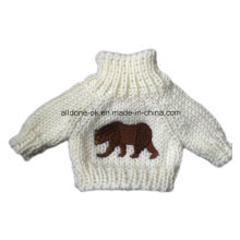 Knit Doll Clothes, camisola para o brinquedo do urso