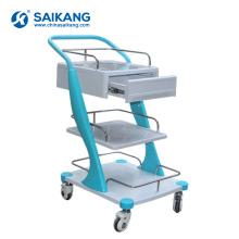 SKR026 Cheap Hospital ABS Beauty Emergency Instrument Nursing Trolley