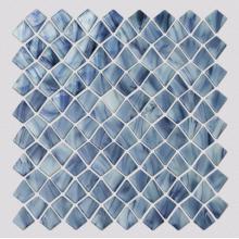 Carreau de verre carré de modèle de mosaïque bleue de salon