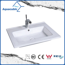 One Piece Bathroom Basin and Countertop Sink (ACB1601)
