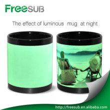Wholesale luminous sublimation promotional mugs