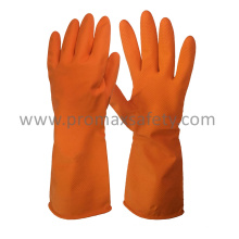 DIP Flocked Orange Haushalt Latex Handschuh