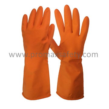 45g DIP Flocked Orange Household Latex Glove