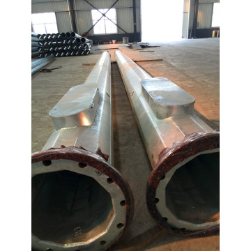 20M Galvanized Round Straight Steel Poles