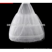 Vestido blanco simple del vestido de bola de la enagua de Tulle