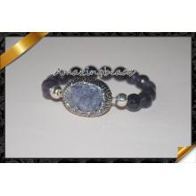 Durzy encantos rebordearon pulsera, pulsera hecha a mano de las mujeres (CB014)