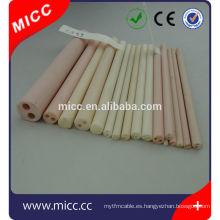 tubo de cerámica de alúmina personalizar con dos orificios