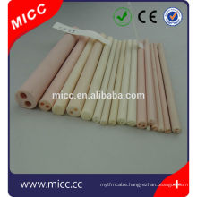 alumina ceramic tube customize with two hole