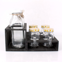 930ml empty glass milk yogurt bottle pudding glass bottle and mason jar set