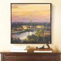 Paris Dusk Skyline płótnie malarstwa olejnego