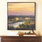 Paris Skymning Skyline Canvas Oljemålning