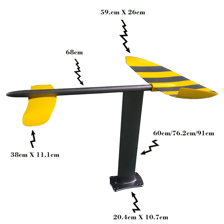 Melors Foilboard Carbon Fiber Foil Surfboard