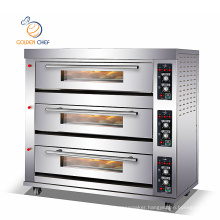 gas deck oven 3deck 9tray steam function stone plate gas oven for pizza cake maker machine commercial pizza oven