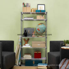 Einstellbare 5 Tiers Home / Office Storage Chrom Stahl Wire Rack Factory