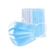 Blue Disposable 3 Ply Non Woven Face Mask