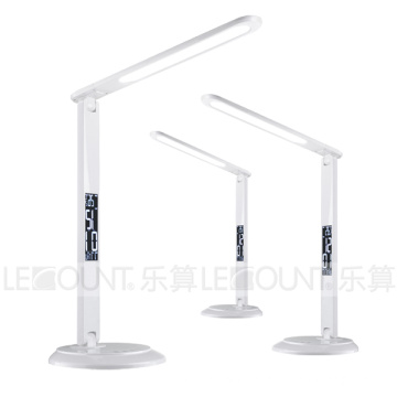 DC12V Power Supply Foldable LED Table Light with Calendar Display and Alarm Function (LTB015)