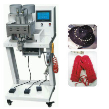 Double Heads Four Prongs Round Pearl Attaching Machine