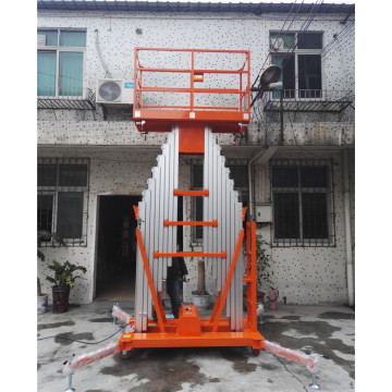 Single Mast Portable Aluminum Work Platform