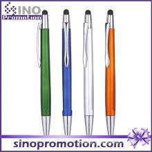 Clique em caneta esferográfica com ponta de borracha caneta multi-função