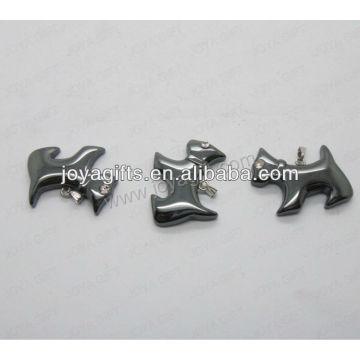 01P1006S / DOG forme pendentif / chien charme / chien adapté / chien forme accessoire avec recherche d'argent