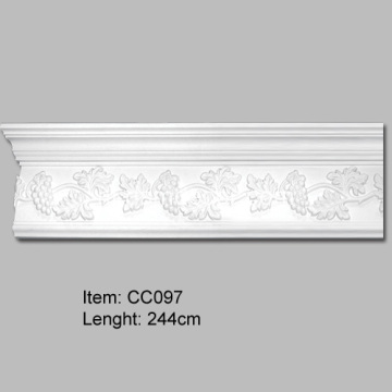 Polyurethaan Grape Crown Molding