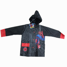 Boy's Black Plastic Raincoat