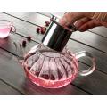 650ml New Design Nampkin Resistência ao Calor Teapot de Vidro