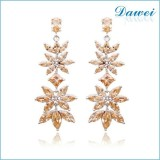 stone brand korean earrings for party
