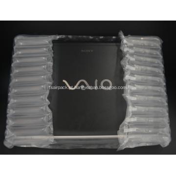 Bolsa de almofada de ar transparente para laptop de 12 ''
