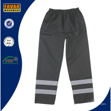 Black High Vis Reflective Waterproof Trousers Safety Trousers