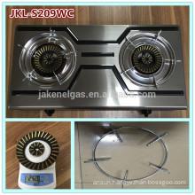 color ss 2 burner gas cooker stove