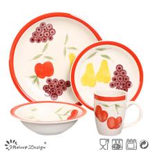 16PCS Fruit Design Lovely Handpainted Set de cena de cerámica