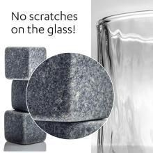 Conjunto de 9 pedras de congelamento de bebidas cinzentas [Pedras de frio] Pedras de whisky para bebidas de uísque e outras