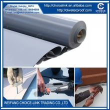 roof material non woven backing TPO waterproof membrane