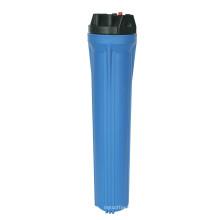 Blaues Wasserfiltergehäuse
