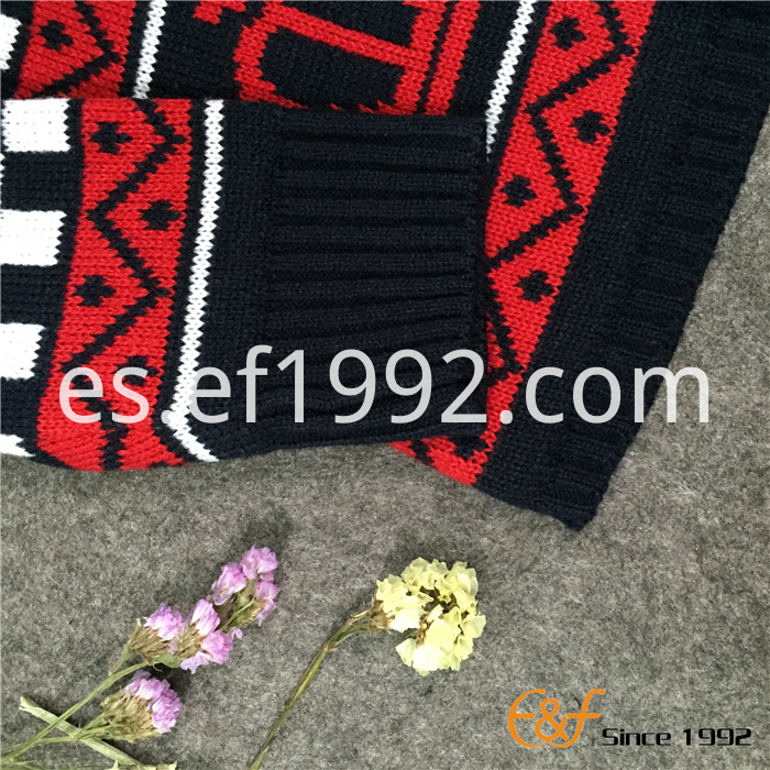 crown pattern jacquard sweater