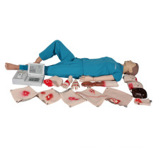 Manequim de Treinamento em CPR de Primeiros Socorros Completos Médicos Avançados (display LCD)