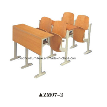 Wooden School Desk and Chair for Step Classroom