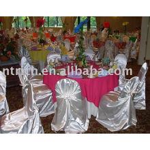 Cubierta de la silla del banquete/hotel de bolso del satén silla cubierta, cubierta de la silla uno mismo-atar/Universal,