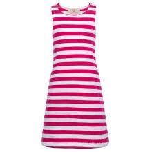 Grace Karin niños niños niñas sin mangas cuello redondo profundo rosa blanco vestido de algodón rayado CL010490-1