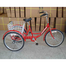 "Popular Rear 6 Speed 24"" Shopping Trike (FP-TRCY045)"