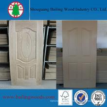 Натуральный Ясеневый шпон двери ХДФ кожи
