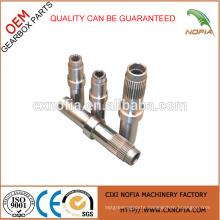 Electric motor shaft gear motor shaft