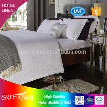 2017 roupa de cama / 300TC 100% algodão tecido roupa de cama jacquard hotel conjunto de cama