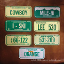 Custom Embossed Printable Car Plate /Car Plate/Decorative Metal Car Plates